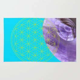 Mystical Flower of Life Amethyst #society6 Rug