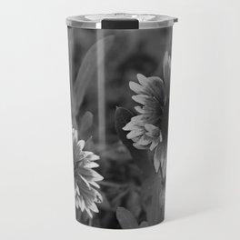 Beautful black and white gerbera flower. Travel Mug