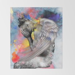 angel male nude Throw Blanket