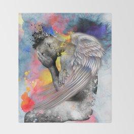 angel male nude Throw Blanket