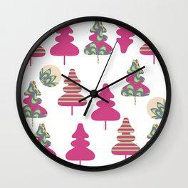 Trees pattern 5W Wall Clock