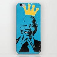 mandela iPhone & iPod Skins featuring King Mandela by César Ovalle