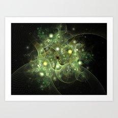 Dawning Universe Fractal Art Art Print