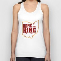 lebron Tank Tops featuring Home of the King (White) by Denise Zavagno