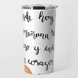Un Beso y Mi Corazon Travel Mug