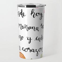 Un Beso y Mi Corazon Travel Mug