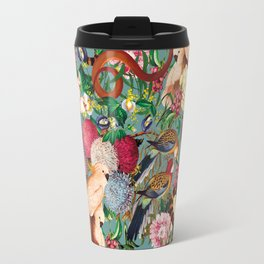 Floral and Animals pattern Travel Mug