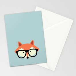 Hipster Red Fox Stationery Cards