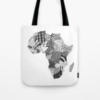 africa Tote Bags featuring Africa by Kacenka