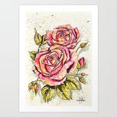 pair of roses  Art Print
