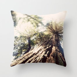 Too Tall Tree Throw Pillow