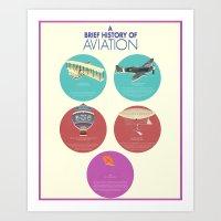 A Brief History of Aviation Art Print