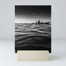 Kayaking on the open sea Mini Art Print