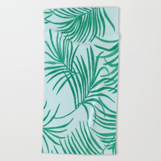 Green Leaves Of Home Beach Towel