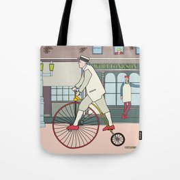 Steampunk Penny-Farthing Velocipedes Tote Bag