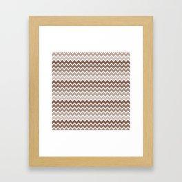 Brown Ombre Chevron Framed Art Print