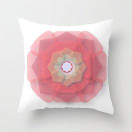 Pink Floral Meditation Throw Pillow