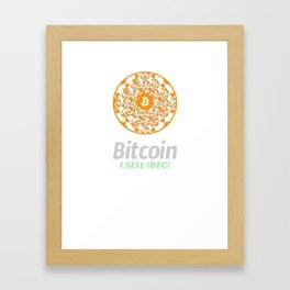 Bitcoin - sacred circle - I sell (BTC) Framed Art Print