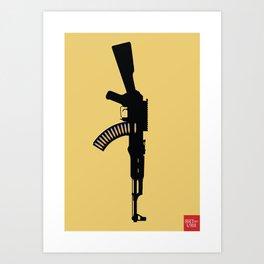 Art Not War - Yellow Art Print