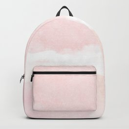 Pastel pink white modern hand painted watercolor. Backpack
