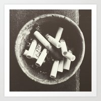 cigarettes Art Prints featuring cigarettes by Sushibird