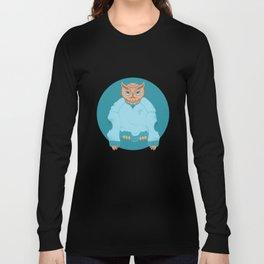 Animal Fashion: O is for Owl in an oversized sweatshirt. Long Sleeve T-shirt