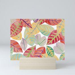 Colored leaves Mini Art Print