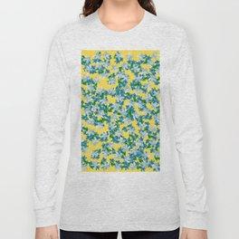 Summer Flowers Yellow Long Sleeve T-shirt