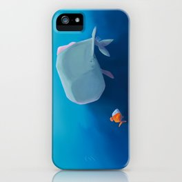 The little sperm whale and the fish iPhone Case