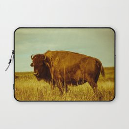 Vintage Bison - Buffalo on the Oklahoma Prairie Laptop Sleeve