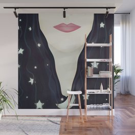 The moon and stars in my hair Wall Mural