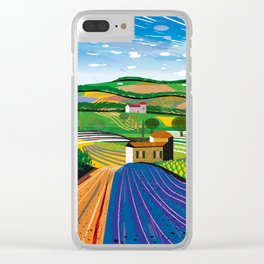 Lavender Farm Clear iPhone Case
