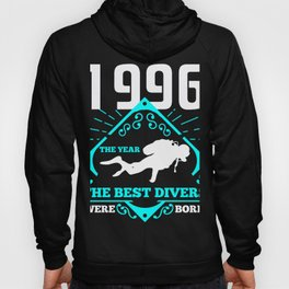 Scuba Diving 1996 Birthday Present Diver Gift Hoody