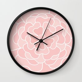 #Pink #abstract  #pink flower Wall Clock