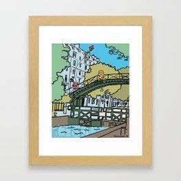 My Cute Paris Bridge Framed Art Print
