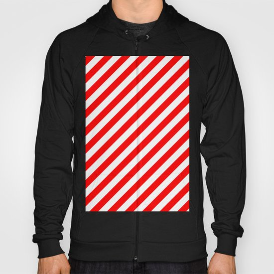 Diagonal Stripes (Red/White) Hoody