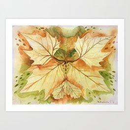 Leaf Pattern Kunstdrucke
