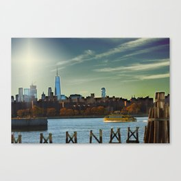 Freedom & Water Taxi's Canvas Print