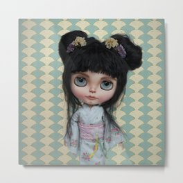 Japanese Doll by Erregiro Metal Print