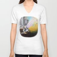 imagination V-neck T-shirts featuring IMAGINATION by Vargamari