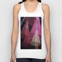 asia Tank Tops featuring RED SPIRALS - Vietnam - Asia by CAPTAINSILVA