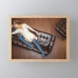 Couch Stories Framed Mini Art Print