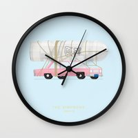 simpsons Wall Clocks featuring The Simpsons | Famous Cars by Fred Birchal