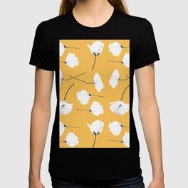 Poppies on mustard T-shirt