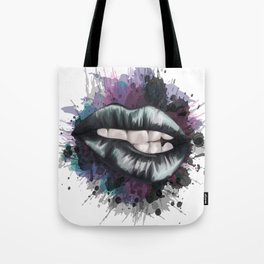 Black Lips Tote Bag