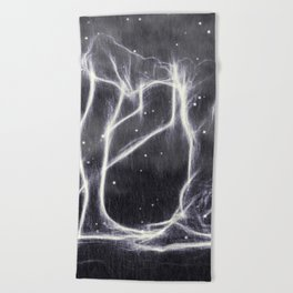Lightning Beach Towel