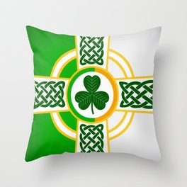Celtic Irish Flag Throw Pillow