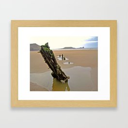 Sunken Reflections Framed Art Print