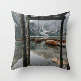 Lago di Braies | Travel photography | Dolomites South Tirol Italy Art Print Throw Pillow