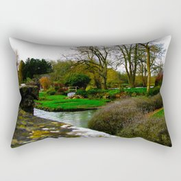 The most beautiful village in England, Bibury. Rectangular Pillow